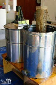 extractor and filter for honey