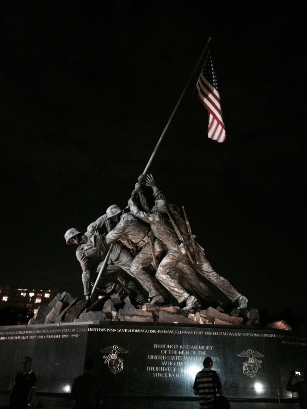 One of my favorite monuments, the Marine Corps War Memorial. Such an awesome reminder of the men and women who have served our country.