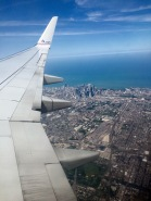 Sky view of our flight over Chicago. Look at all the skyscrapers!